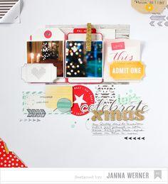 let´s celebrate christmasFotos mit Bokeh-Effekt auf Scrapbooking-Layout - Janna Werner | Papiersalat