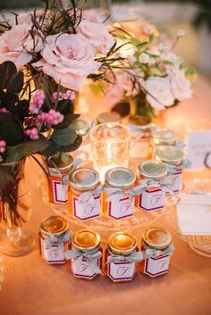 Honey wedding favors! Thanks to Traci Steuteville/ Napa Valley Celebrations/ Kathy Hoffman/ Meg Smith Photography