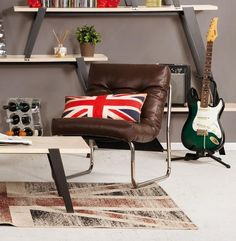 Brown Retro Kokoon Boudoir Lounge Chair AC00690RE