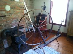 A spinning wheel in the Creole House in Prairie du Rocher, IL. Photo courtesy of Christopher Martin. Randolph County, IL.