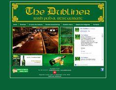 """Sitio Web desarrollado para el restaurant de conmida irlandesa """"The Dubliner"""" ubicado en el Megacenter, este sitio cuenta con un pluggin social que muestra toda la actividad de la cuenta de facebook en el sitio Web.  www.dubliner.com.bo"""