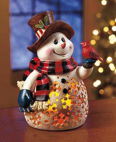 Woodland Lighted Snowman