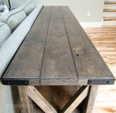 DIY oxidized X-Console Table....we could make this for under the tv