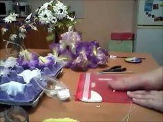 КАРЕЛИНА ТАТЬЯНА Лён Яркие глазки из холодного фарфора 2015 06 22 - YouTube