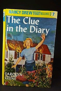 NANCY DREW MYSTERY STORIES 7 ONLY Glossy Hardcover Book Flashlight, Year 2000 (OVER 20 VOLUMES AVAILABLE!)