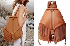 Rebecca Minkoff Julian Backpack. Fringed or finished without, Becky's Julian backpack is the epitome of effortlessly cool - See more at: http://stylestories.ebay.com/11-surprisingly-stylish-backpacks/?_trksid=p2050601.m1256&_trkparms=%26clkid%3D8228968451093281041#sthash.7jH7X3y2.dpuf  I love this!!!!