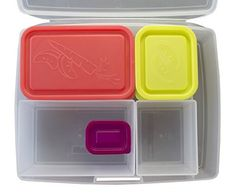 Lunch Box - Leakproof Translucent Fruit Bento Box with 5 Multicolor Containers - USA Made
