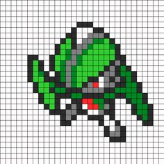 Gallade Pokemon Sprite bead pattern