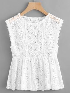 Lace Sleeveless Smock Top