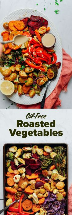 DELICIOUS Oil-Free Roasted Vegetables! 30 minutes, simple method, SO healthy and satisfying #vegan #vegetables #plantbased #brocolli #oilfree #potato #glutenfree