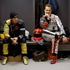 I love this photo too  This is a reflection of the great complicity between #SebastianVettel & #MichaelSchumacher  Great respect between German driver I love