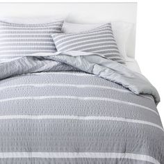 Room Essentials® Textured Rugby Duvet Cover Set...duvet or fabric for curtains