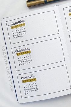 Check out the best bullet journal future log spreads for inspiration! Bullet Journal Yearly, Bullet Journal Writing, Bullet Journal School, Bullet Journal Ideas Pages, Bullet Journal Inspiration, Bullet Journal Minimalist, Calendar Journal, Journal Organization, Bullet Journal Lettering Ideas