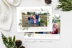 Merry Christmas Floral Holiday Card Template This 5x7 Christmas card template highlights your favorite family photo of the year! Everybody loves getting Christmas cards in the mail so use this holiday template to quickly create this years photo card! The editable template is instantly available Christmas Card Template, Merry Christmas Card, Christmas Photo Cards, Christmas Photos, Holiday Cards, Holiday Birth Announcement, Birth Announcement Template, Card Templates, Web Browser