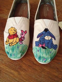 Wander the Hundred Acre Wood in these: | 33 Pairs Of Unbelievably Beautiful Custom TOMS