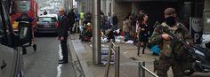 Brüssel / Explosionen / Innenstadt auch in der metrostation