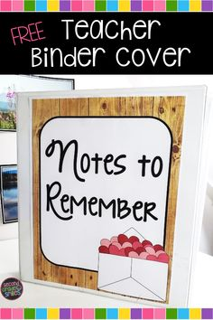 """Having a rough day, teacher? Remember to save the heartfelt thank you notes from parents and drawings from your students. Pull them out on tough days to remind yourself why it is all completely worth it. I keep mine in a """"Notes to Remember"""" binder. Grab this free printable cover page over on the Second Grade Smiles blog if you'd like to start your own. Teaching Second Grade, Second Grade Teacher, 2nd Grade Classroom, Meet The Teacher, 3rd Grade Math, New Teachers, Third Grade, Teacher Binder Covers, Classroom Charts"""