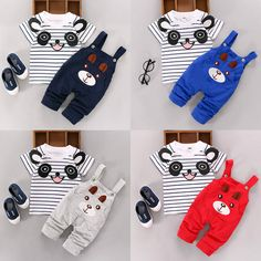 >> Click to Buy << 2PCS New Fashion  Newborn Kids Baby Boy Girls T-shirt Tops & Pants Overalls Outfits Clothes Set 0-24M #Affiliate