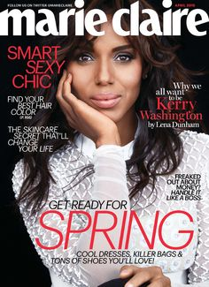 Kerry Washington looks breathtaking on the cover of Marie Claire!