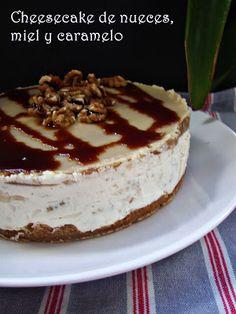 La hondonada de los dulces: Cheesecake de nueces,miel y caramelo