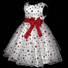 Christmas Red Flower Girls Dress Sz Y African Dresses For Kids, Dresses Kids Girl, Kids Outfits, Kids Dress Wear, Kids Gown, Baby Girl Dress Patterns, Baby Dress Design, Red Flower Girl Dresses, Little Girl Dresses