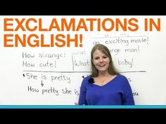 Exclamations in English!!! - YouTube -         Repinned by Chesapeake College Adult Ed. We offer free classes on the Eastern Shore of MD to help you earn your GED - H.S. Diploma or Learn English (ESL).  www.Chesapeake.edu