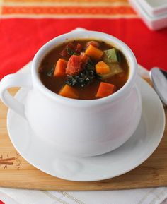 Hearty Vegetable Soup with Kale