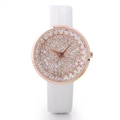 Shape of the dial:Round Movement type:Quartz Display type:Pointer Band material:Leather Clasp type:Pin buckle Band length: 22 cm Dial diameter: 4 cm Dial cm Band width: 2 cm Watch g Waterproof description:life waterproof 30 m Casual Watches, Women's Watches, Luxury Watches, Stylish Watches, Wrist Watches, Fashion Watches, Expensive Jewelry, Leather Watch Bands, Quartz Watch