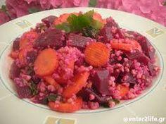 Συνταγές με φαγόπυρο :-) Σαλάτα με παντζάρι, καρότο και φαγόπυρο.