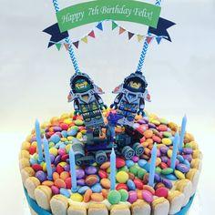 Lego Nexo Knight cake bunting by HomemadeBirthdays on Etsy