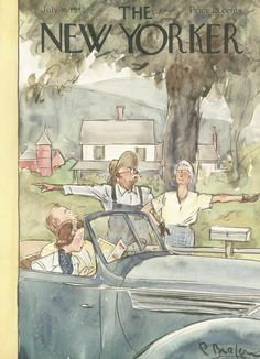 The New Yorker - Saturday, July 16, 1938 - Issue # 700 - Vol. 14 - N° 22 - Cover by : Perry Barlow
