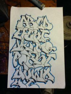 3D Graffiti Letters A-Z   ... AZ By Mr. Shock 89 carsweat.: Sketches Graffiti Alphabet Letter AZ By