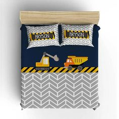 CONSTRUCTION BEDDING Comforter Boy Duvet Cover Construction