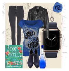 """""""Blue Rose"""" by letiperez01 on Polyvore featuring Yves Saint Laurent, Effy Jewelry, Wallis, WearAll, Alexander Wang, JLo by Jennifer Lopez and Universal Lighting and Decor"""
