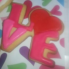 valentine's day royal icing cookies