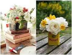em latas Stuff To Do, Fun Stuff, Flower Arrangements, Mustard, Table Decorations, Home Decor, Quilts, Ideas, Tin Cans