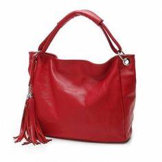 PU Leather Women Vintage Tassel Handbag Luxury Handbag Tote Crossbody Bags - US$15.48