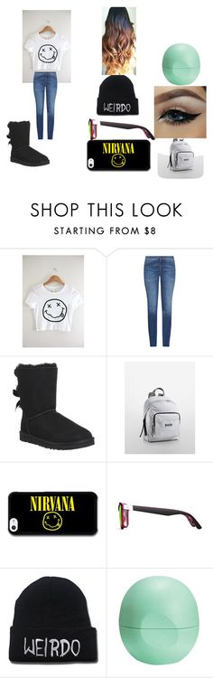 """nirvana outfit"" by myshelecleveland on Polyvore featuring Weekend Max Mara, UGG Australia, Calvin Klein, GlassesUSA, Eos, women's clothing, women's fashion, women, female and woman"