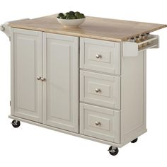 Andover Mills Kuhnhenn Kitchen Cart with Wood Top Beautiful Kitchens, Cool Kitchens, Galley Kitchens, Dream Kitchens, Ikea, Kitchen Doors, Wooden Kitchen, Kitchen Cupboards, Kitchen Pantry