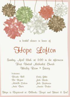 Custom Wedding Shower Invite