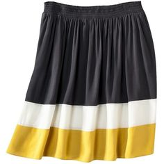 Mossimo® Womens Plus-Size Color-Block Basic Skirt - Assorted Colors ($14) ❤ liked on Polyvore