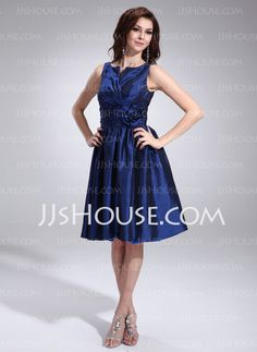Cocktail Dresses - $146.49 - A-Line/Princess V-neck Knee-Length Taffeta Cocktail Dresses With Ruffle (016008263) http://jjshouse.com/A-Line-Princess-V-Neck-Knee-Length-Taffeta-Cocktail-Dresses-With-Ruffle-016008263-g8263