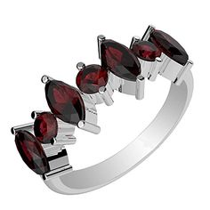 185ctwGenuine Garnet  Solid 925 Sterling Silver Ring Size10 -- Check out the image by visiting the link.(It is Amazon affiliate link) #repost