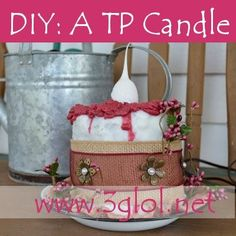 DIY: A TP Candle, aka Toilet Paper Candle. What? Learn how to make this unique candle using your choice of wax and a roll of toilet paper. www.3glol.net