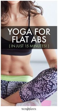 This yoga sequence will help tighten your tummy- no crunches required! Womanista.com