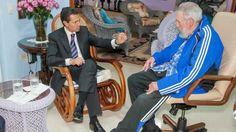 Peña Nieto confude a Fidel Castro con Santa Claus foto