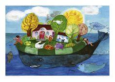 Poster mit Illustration von E.M. Ott-Heidmann - 100% Recyclingpapier