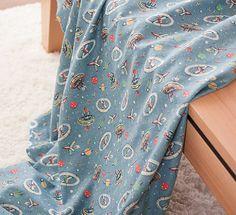 3407  Cath Kidston Weltraum hellblau Twill Flanell von boqinana, $7.00