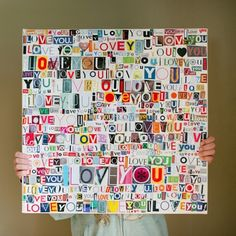 magazine letters on canvas. Not sure I have the patience for this. :) collage Mod Podge Canvas Art Ideas for Your Wall - Mod Podge Rocks Cute Crafts, Diy And Crafts, Arts And Crafts, Paper Crafts, Cute Diy, Magazine Collage, Magazine Art, Recycled Magazine Crafts, Old Magazines