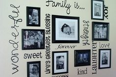 I love picture walls..